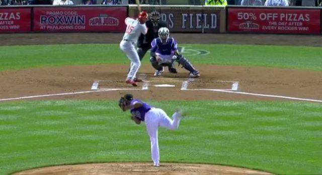 Rockies Pitcher Ks 8 Straight Phillies, Tying An MLB Record