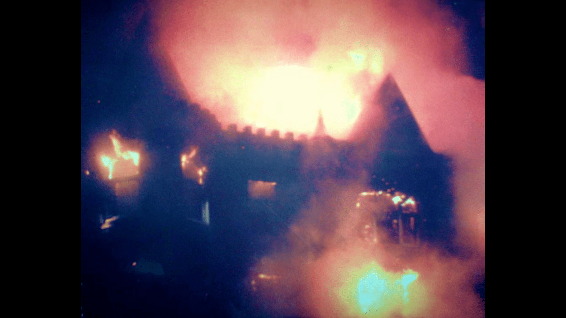 Broomall Bergdoll Mansion Fire of I-476