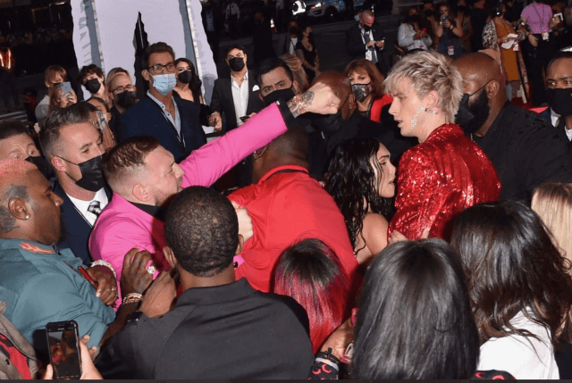 Conor McGregor Tried To Punch MGK With Megan Fox On The VMA Red Carpet