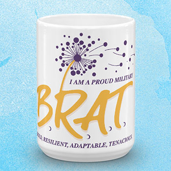 Coffee mug with BRAT logo