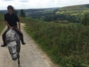 Tom riding in Yorkshire