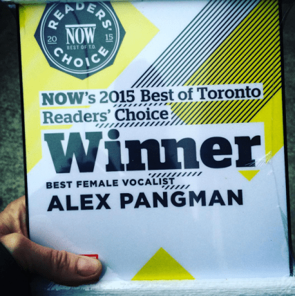 NOW win for Female Vocalist Toronto