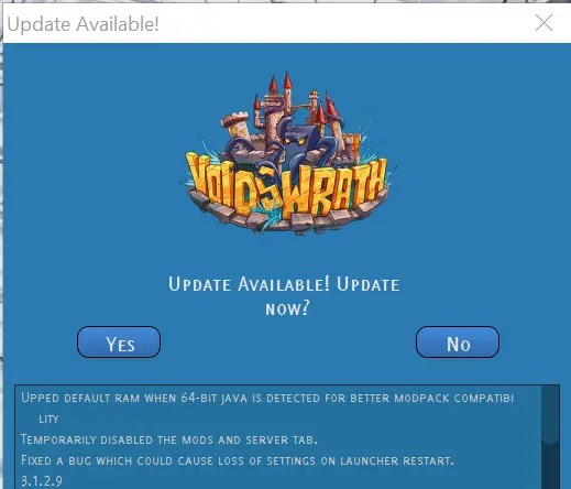 where to click to access the mod packs in the voids wrath launcher - how to download & install Crazy Craft 3.0