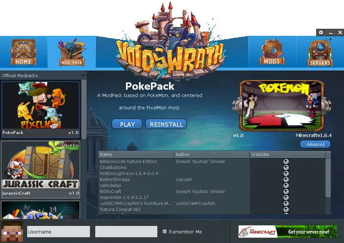screenshot of the voids wrath launcher update screen - how to download & install Crazy Craft 3.0