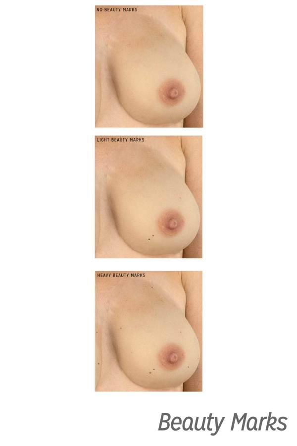Gold Seal CustomSkin Marilyn beauty mark breast forms