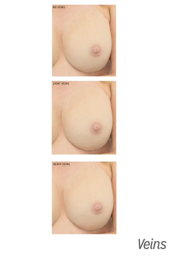 Gold Seal CustomSkin breast form vein options