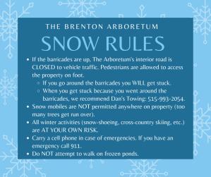 Brenton Arboretum Snow Rules