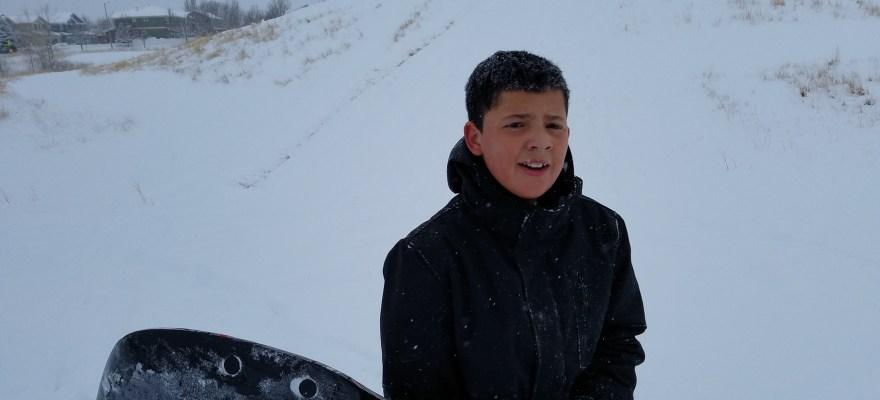 Danny Brewington, sledding