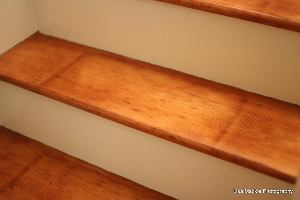 pine wood stairs