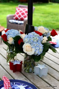 A Red, White, and Blue Outdoor Summer BBQ Party