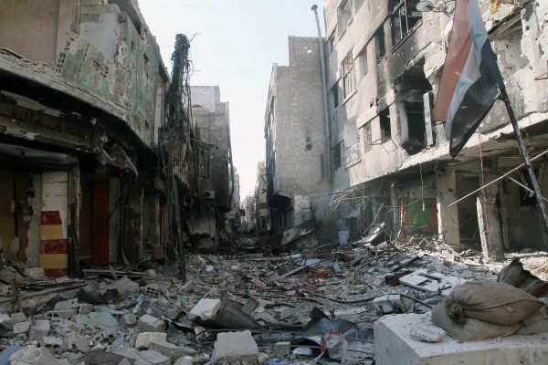 The Syrian Civil War has devastated entire cities and towns as fighting between the rebels and Syrian Army spreads from neighborhood to neighborhood [Xinhua]