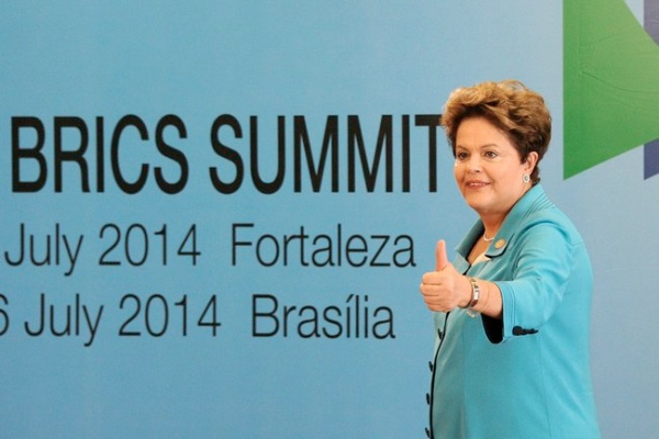 President of Brazil Dilma Rousseff at the BRICS Summit in Brazil where the five countries launched a $100 billion new development bank in July 2014 [PPIO]