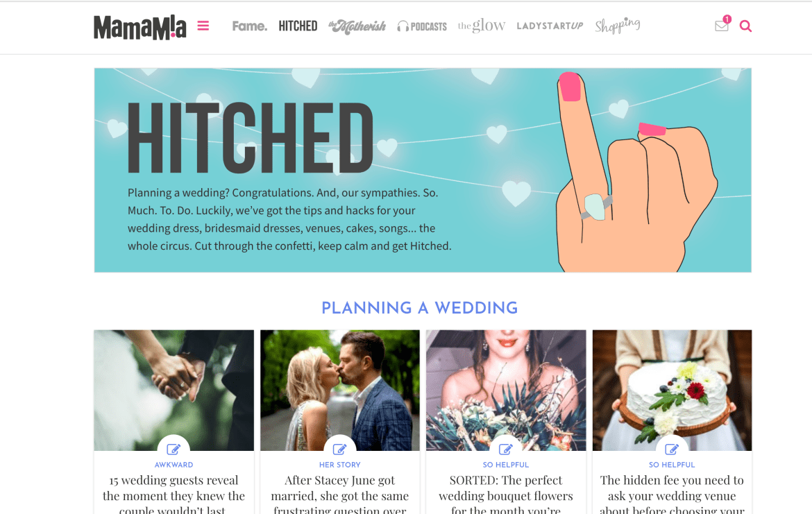 Mamamia hitched wedding planning podcast