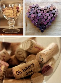 Consider how many wine bottles will be opened throughout the duration of your wedding. Save money and paper and put the corks to good use! Either get people to sign them - or make pretty pictures with them!! Genius!