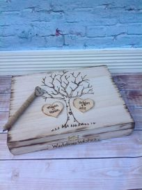 This is such a gorgeous idea for a rustic wedding! Fill your box with little notes from your guests.