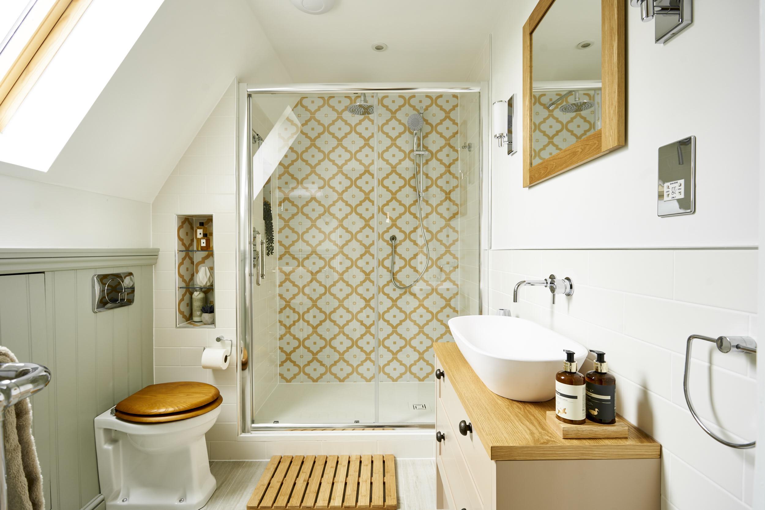 9 Design Tips for a Luxury Attic Bathroom You'll Love ... on Small Bathroom Ideas Uk id=13224