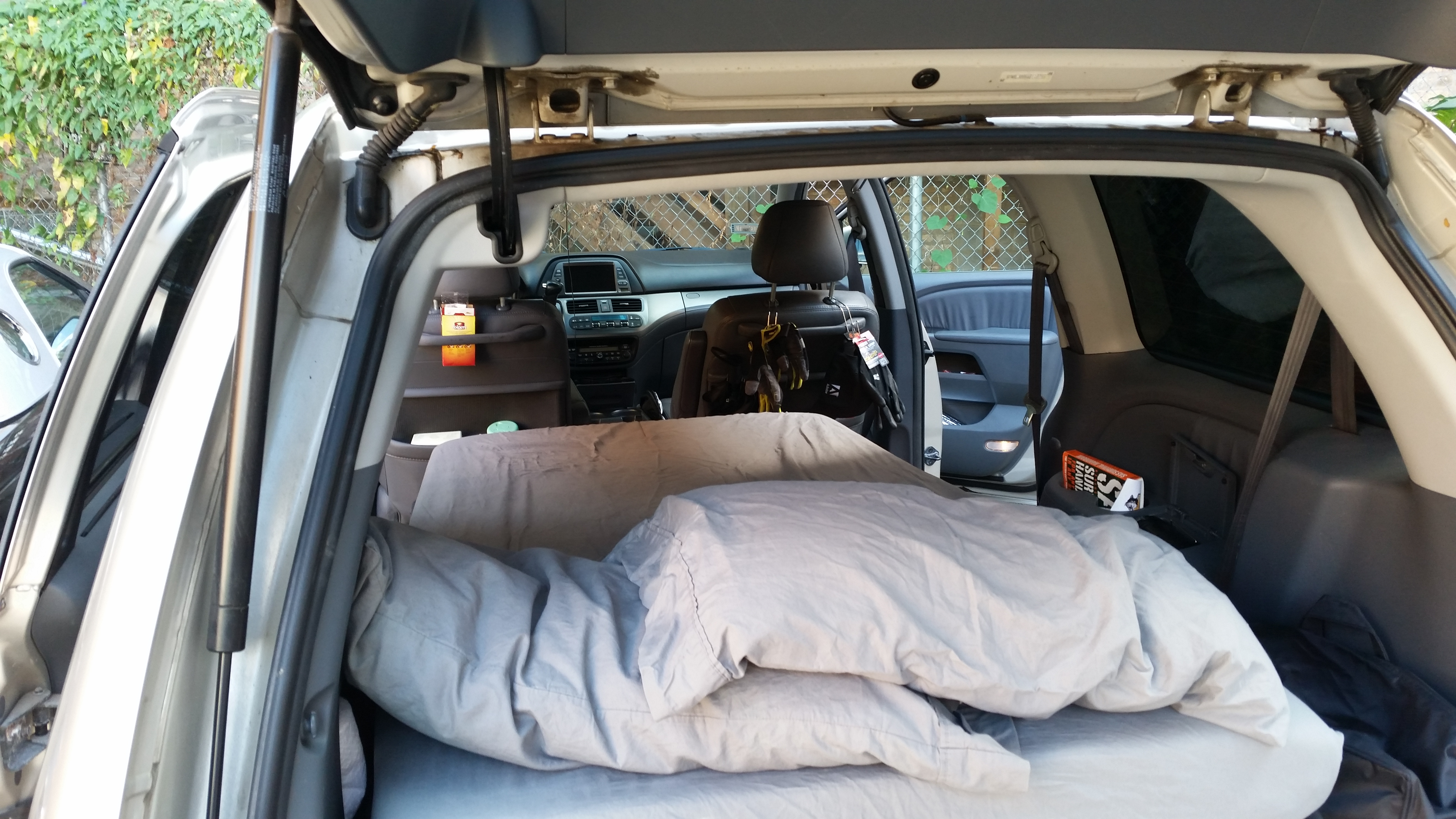 quick honda odyssey minivan camper conversion the bright places