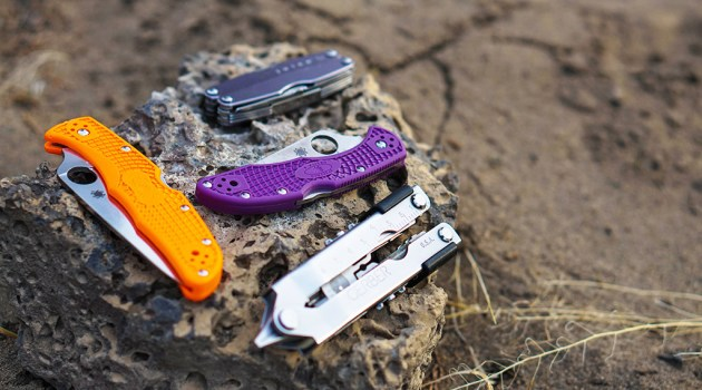 Backpacking knife and multitools