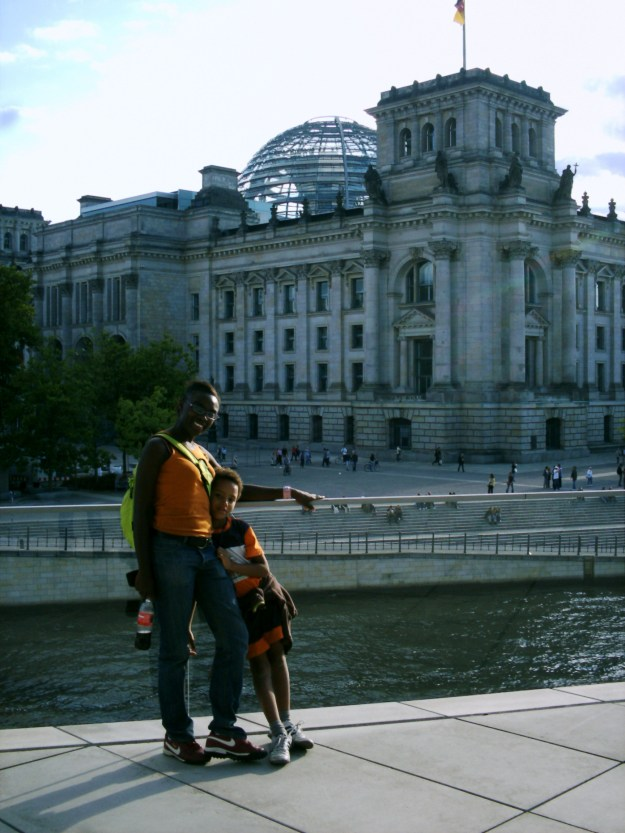 Myself and my son around the Reichstag and The Dome.