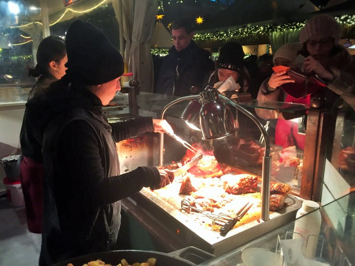 There's so much to eat, at a German Christmas Market!