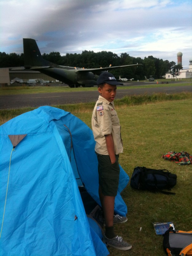 Camping at the oldGatow airforce base, in the suburbs of Berlin.