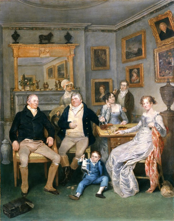 Oil on panel painting, depicting a family scene in a domestic interior. 1815-1820. © Geffrye Museum, London