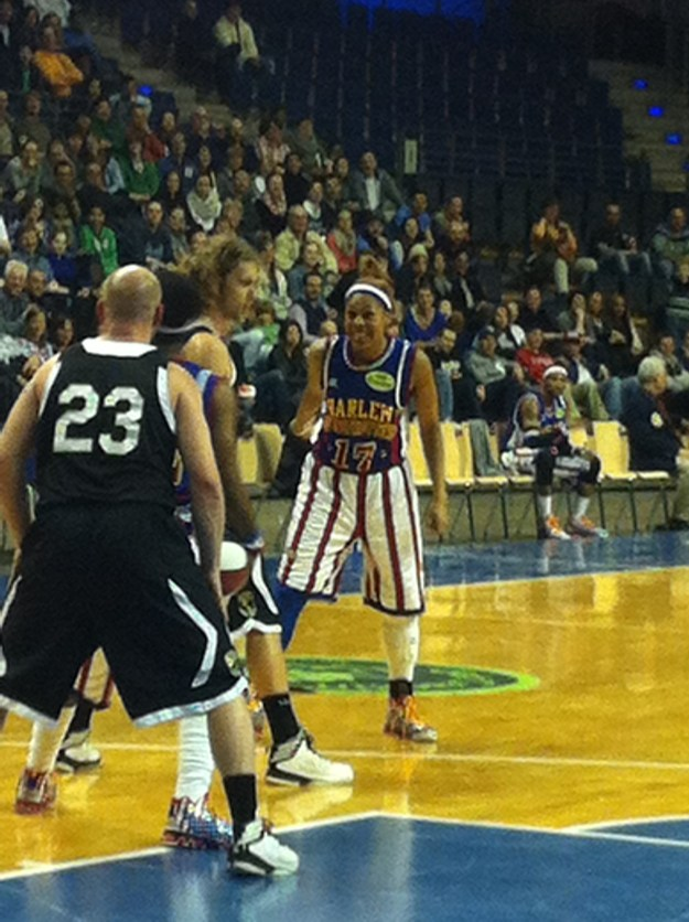 """Sweet J"" at the Harlem Globetrotters - Basketball."