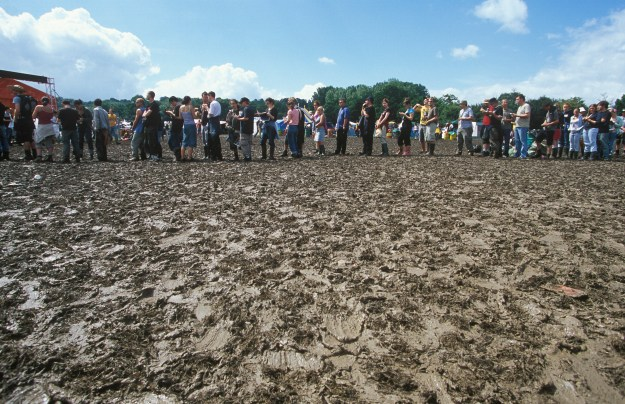Queuing at Glastonbury and waiting. If they can do it, so can you!
