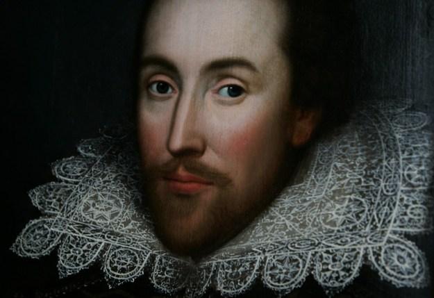 A potrait of William Shakespeare.