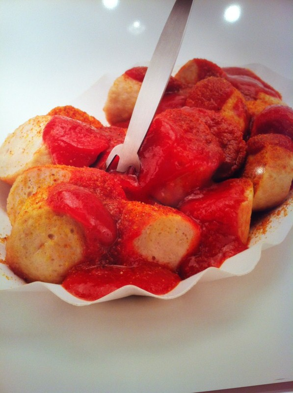 All you need is a plate of Berlin's speciality: Currywurst.