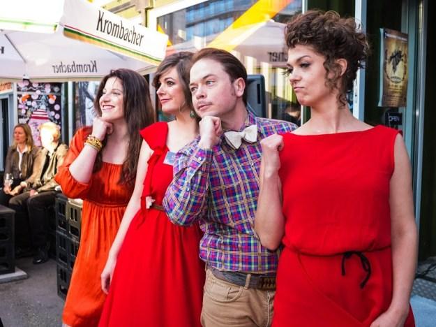 Deborah, Carmen, Daniel, and Leila, at the Berlin Music Video Awards! Courtesy of BMVA.