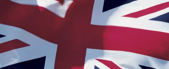 The Union Jack symbolizing everything in English, and also American!