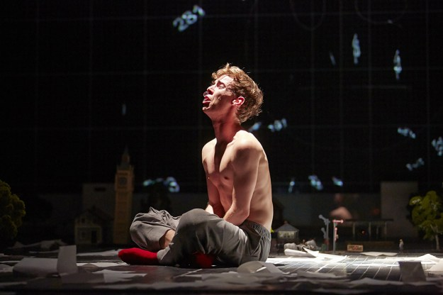 In pain. The Curious Incident Original West End Cast. Photo: Brinkoff and Mogenburg