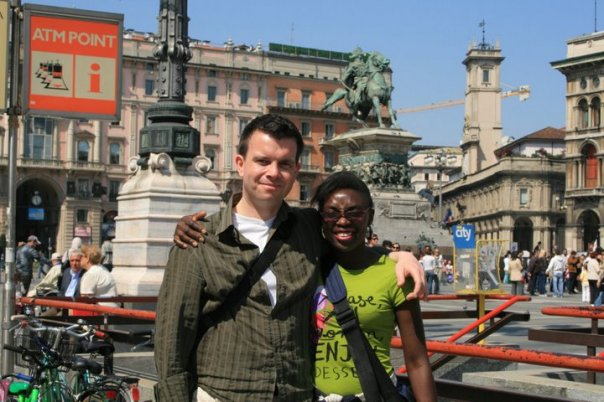 My husband - The Music Producer and I in Milan - Italy.