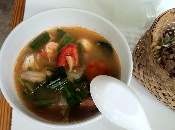 My home-made Hot & Sour Prawn Soup.