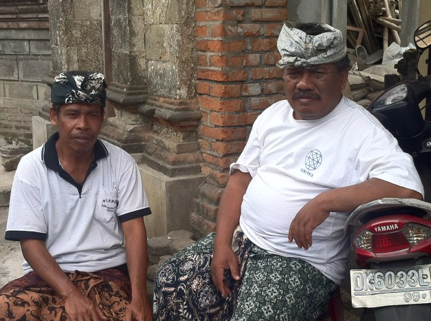 Local Balinese men in Ubud, Bali.