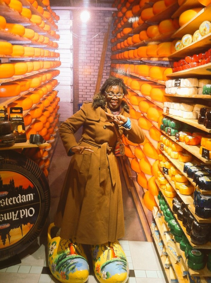 Cheese everywhere. And clogs!