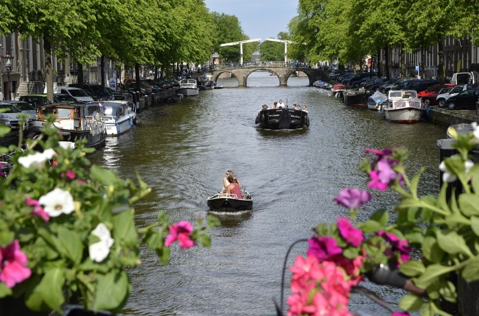 The river in Amsterdam.