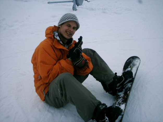 A local Czech snowboarder.