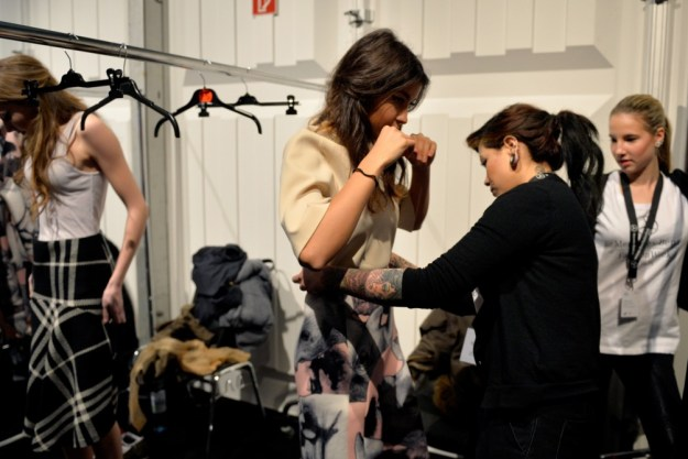 Ioana backstage - Mercedes-Benz Fashion Week Berlin.