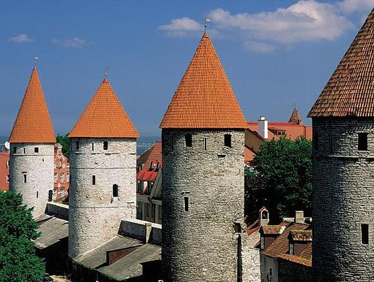 The Medieval Old Town in Tallinn, Estonia.