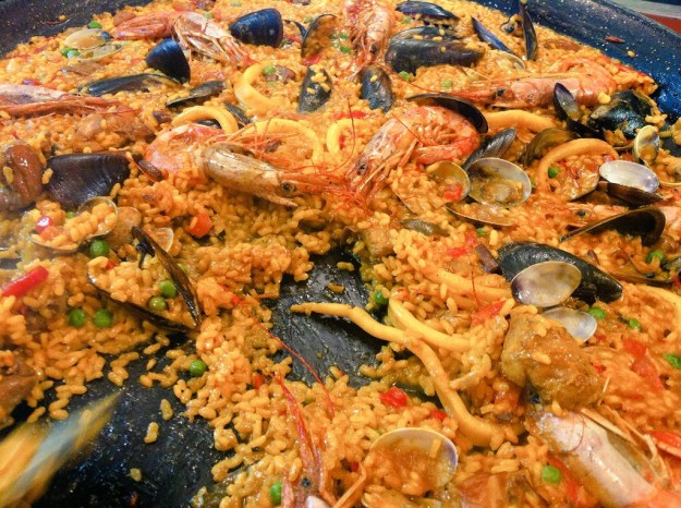 Paella for lunch at TBEX in Lloret de Mar - Spain. Yum!