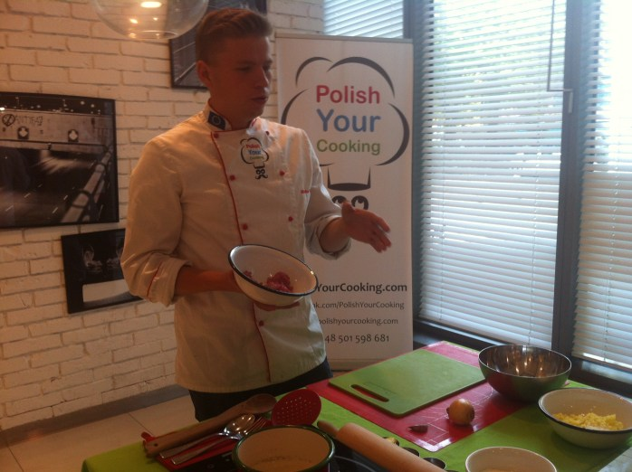 Chef Michał Piosik of Polish Your Cooking in Warsaw.