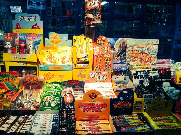 Vintage nostalgic sweets, toffees and sherbet at Bristol's oldest market – the 200-year-old St Nicholas Market.
