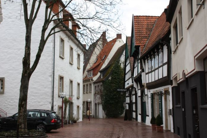 The Old Town in Osnabrück, Germany.