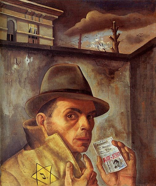 A Self Portrait of Felix Nussbaum in 1943.