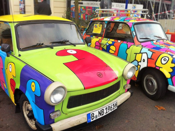 Outside the Trabi Museum in Berlin.