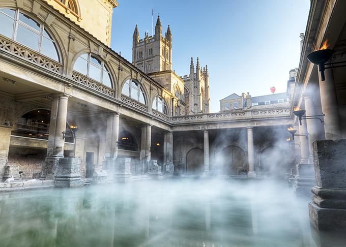 The steaming Roman Baths!