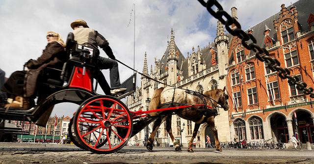 Horse Carriage in Bruges. ©VisitFlanders.