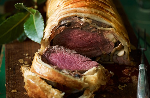 We were served roast beef à la Wellington. Delicious but chewy!
